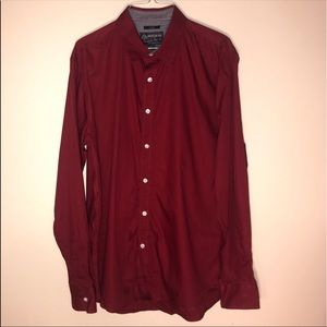 American Rag solid red long sleeve dress shirt L